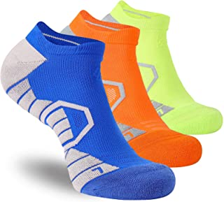 Athletic Running Socks for Men & Women Cushioned Wicking Compression No Show Socks