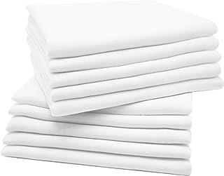 Zollner 10 muselinas para bebé, algodón 100%, 80x80 cm, blancas