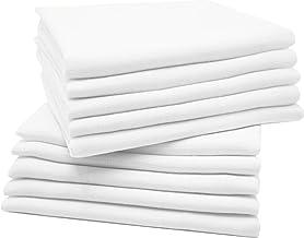 Zollner 10er Set Mullwindeln Spucktücher Baumwolle, 80x80 cm, Weiß, Ökotex