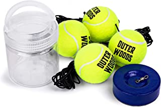 Solo Tennis Trainer Rebound Ball - Tennis Rebounder with Portable Heavy Duty Base, Elastic Strings, and Extra Practice Tennis Balls - Training Tennis Equipment for Kids and Adults at Any Skill Level