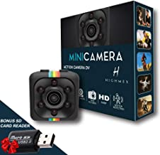 Spy Camera, Hidden Camera, Action Camera, Nanny Cam, Mini Camera, Cop Cam, Spy Cams, Best Digital Small HD Super Portable with Night Vision and Motion Detection, Cameras for Home, Car, Drone and Offic