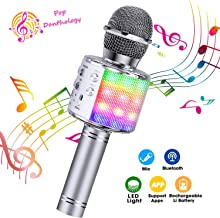 ShinePick Bluetooth Karaoke Microphone, 4 in 1 Wireless Microphone Handheld Portable..