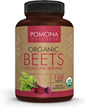 Sponsored Ad - Pomona Wellness Organic Beets 1350mg, Made with Organic Beet Root Powder, Helps Reduce Blood Pressure,Suppo...