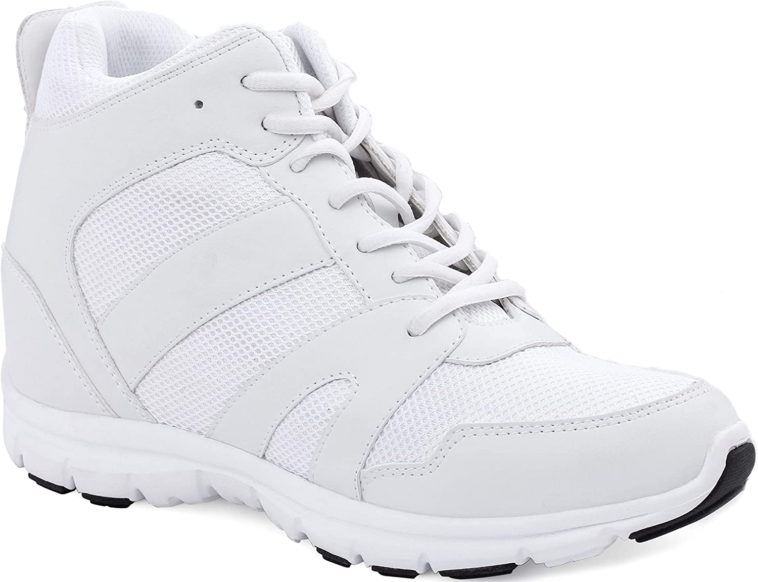 CALTO mart Men's Invisible Height Increasing L Elevator Shoes - White Manufacturer direct delivery