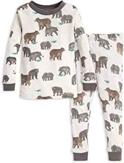 Burt's Bees Baby Unisex Pajamas, Tee and Pant 2-Piece PJ Set, 100% Organic Cotton