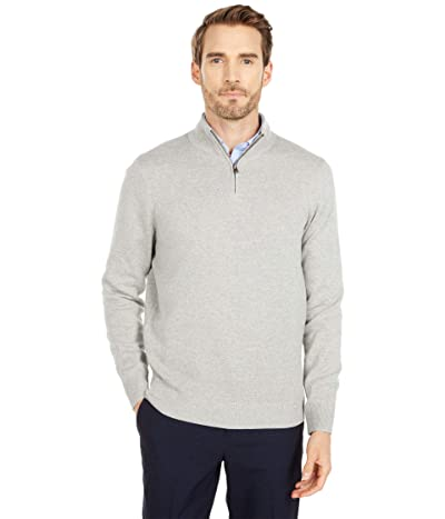 Dockers Long Sleeve 1/4 Zip Sweater (Gray Heather) Men