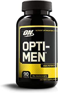 Optimum Nutrition Opti-Men, Vitamin C, Zinc and Vitamin D, E, B12 for Immune Support Mens Daily Multivitamin Supplement, 90 Count
