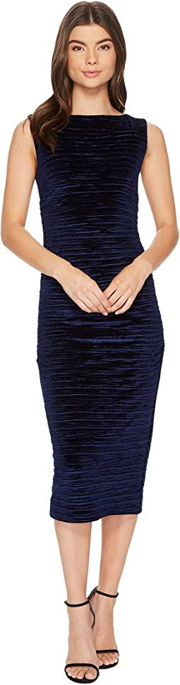 Striped Velvet Lauren Ruched Dress