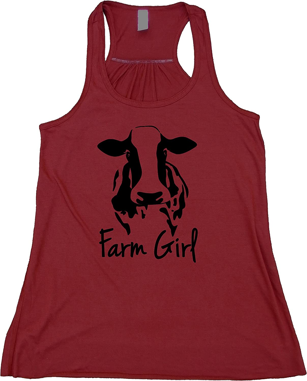 Farm Girl Tractor Ladies Muscle Tank