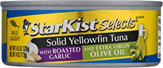 StarKist E.V.O.O. Solid Yellowfin Tuna with Roasted Garlic and Extra Virgin Olive Oil - 4.5 oz Can (Pack of 12)