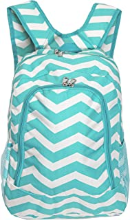 World Traveler Multipurpose Backpack 16-Inch, Blue White Chevron, One Size