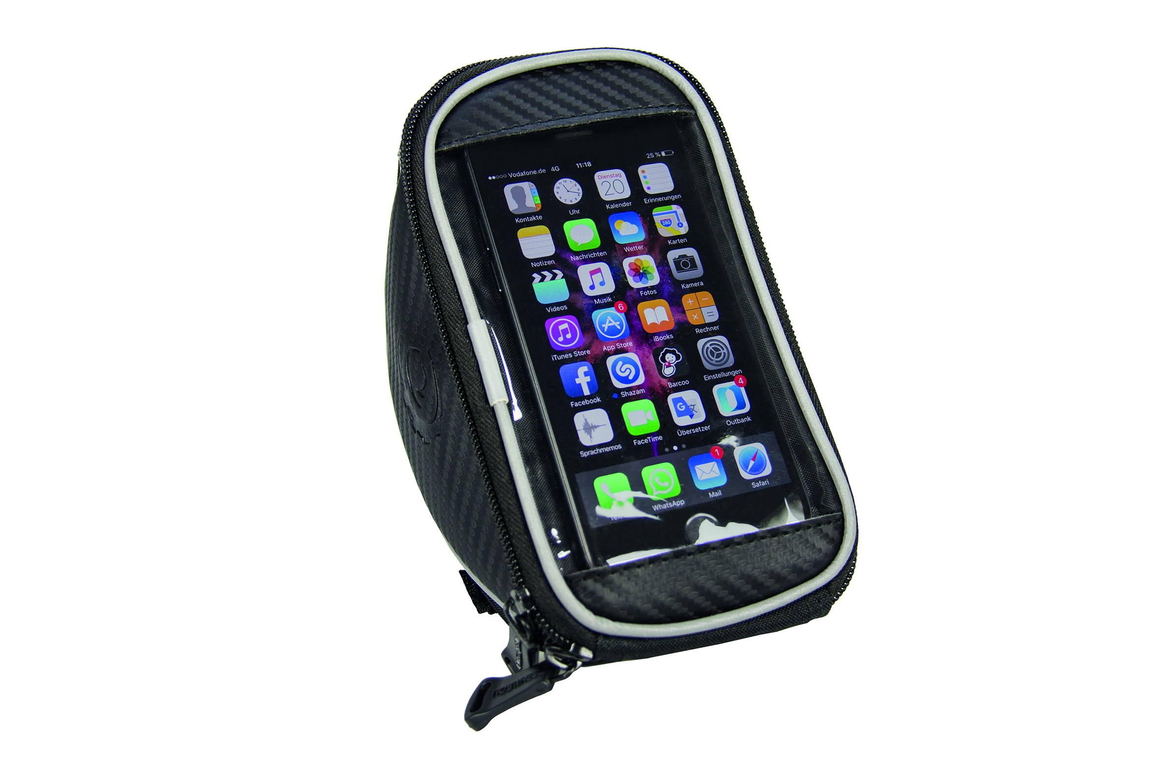 FISCHER Lenkertasche für Smartphones mit Touchdisplay, wasserdicht, schwarz