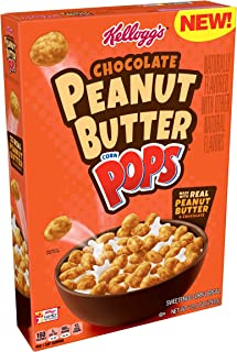 KELLOGG'S CHOCOLATE PEANUT BUTTER CORN POPS CEREAL