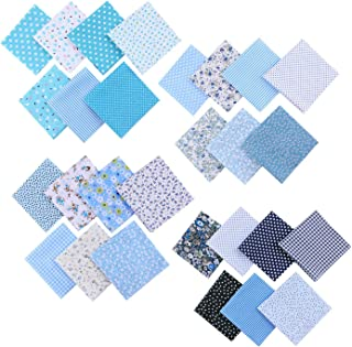 Fabric By The Yard Square Geometric Print Fabric Cotton Cambric Fabric SMIN-GMD-585A Blue Color Fabric Quilting Cushion Curtain Fabric