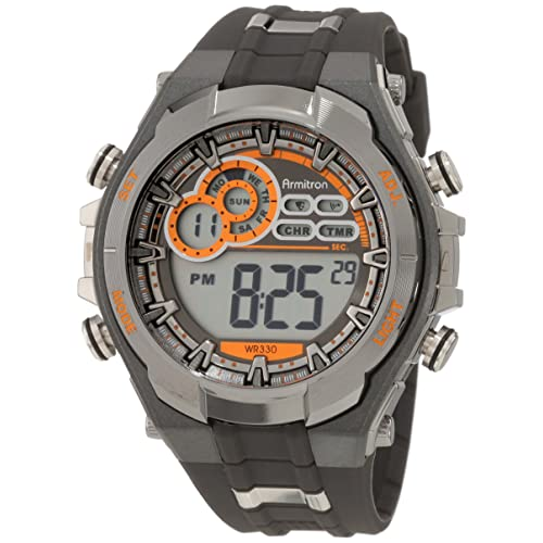 Armitron Sport Mens 40/8188 Digital Chronograph Resin Strap Watch