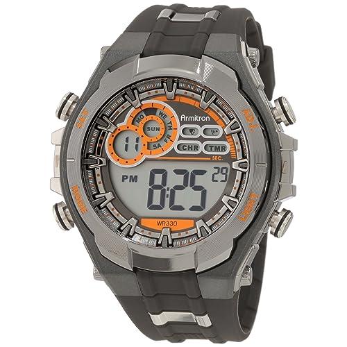 Armitron Sport Mens 40/8188 Digital Chronograph Resin Strap Watch