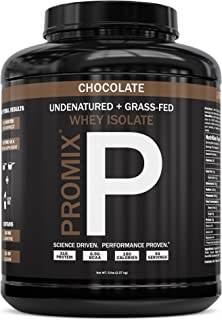 Native Grass Fed Whey Protein Isolate | 100% Optimum All Natural | Undenatured | Non-GMO + Gluten-Free + Soy-Free | ­Best for Fitness Nutrition Shakes | Energy Smoothie (Chocolate, 5LB)