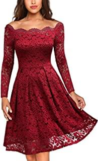 Best red off the shoulder dress homecoming Reviews