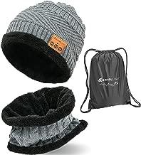 Bluetooth Beanie Wireless Hat with Scarf – Headphone Beanie Hat with Upgraded Bluetooth 5.0 - Wireless Beanie Bluetooth Hat for Women Men Teens - Warm Knitted Fleece Music Hat - Gorros con Bluetooth