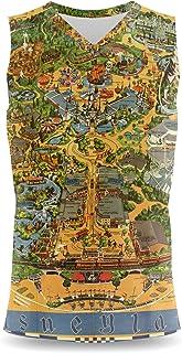 Rainbow Rules Disneyland Vintage Map Mens Sleeveless Tank Top