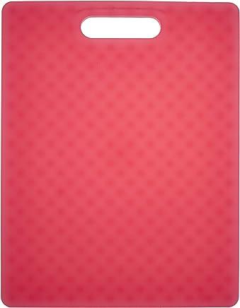 "Architec G14TR Original Non-Slip Gripper Cutting Board, 11"" x 14"", Translucent Red"