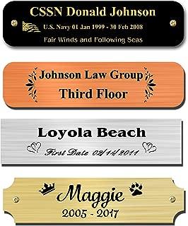 custom made name plaques