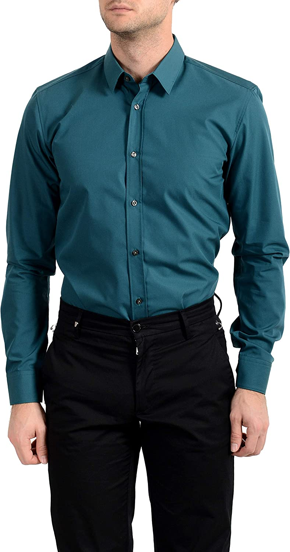 Hugo Boss Men's Elisha01 Extra Slim Fit Long Sleeve Dress Shirt Sz US
