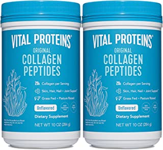 Vital Proteins Collagen Peptides Powder Supplement, Shrink-Wrapped 10oz Bundle, Hydrolyzed Collagen - Non-GMO - Dairy&Glut...