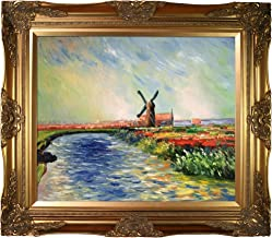 overstockArt Monet Tulip Field in Holland with Victorian Gold Frame Oil Painting, Gold Finish