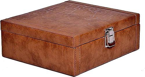 Borse Women's Gift Unisex Brown Leatherette 8 Slots Watchbox Without Watches - Wrist Watch Holder/Storage Box & Displ...