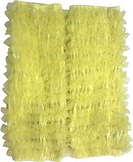 天使のドレス屋さん レッグウォーマー レッグカバー ダンス 衣装 レッグウォーマー 靴下 ロング 50cm イエロー 黄色