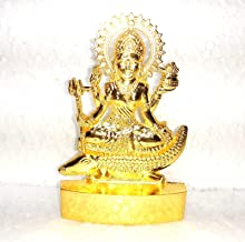 Lakshmi murti Idol for Puja Home Decoration Car, Hindu Idols Laxmi Statue Car Dashboard Desktop Decor