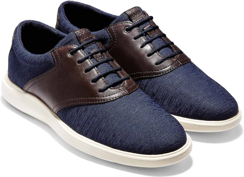 Cole Haan Men's Grand Plus Essex Wedge Oxford C30487 Marine Blue-Java