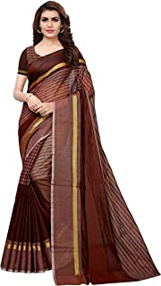 GoSriKi Synthetic Cotton Saree with Blouse Piece