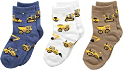 Jefferies Socks Construction Triple Treat 3-Pack (Infant/Toddler/Little Kid)
