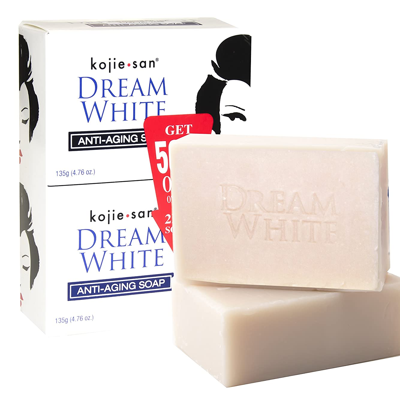 奨学金開発する枝kojie san DREAM WHITE Soap 135g × 2個 ホワイトニングソープ
