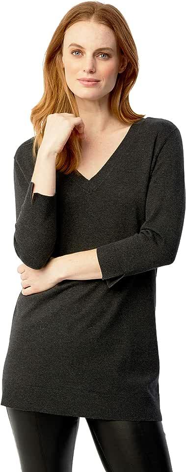 525 America Women's Lace Up Back V-Neck Tunic