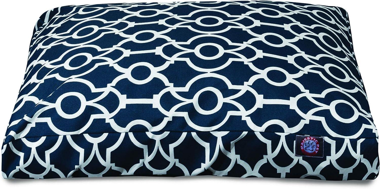Majestic Pet Athens Navy Large Rectangle Pet Bed