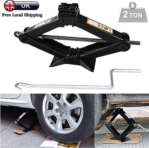 lowest 2 Ton Tonne Scissor Wind Up online Jack & Chromed Crank 2021 Speed Handle For Van Car Garage online
