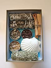 Resin Incense & Sage Smudge Variety Gift Box Includes Dragons Blood, Mystical Benzoin and Copal Resins. Also Palo Santo Sticks, Black Sage, White Sage and Yerba Santa & White Sage Blend