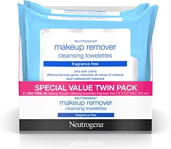 2 Pack Neutrogena Makeup Remover Facial Wipes (25 count)