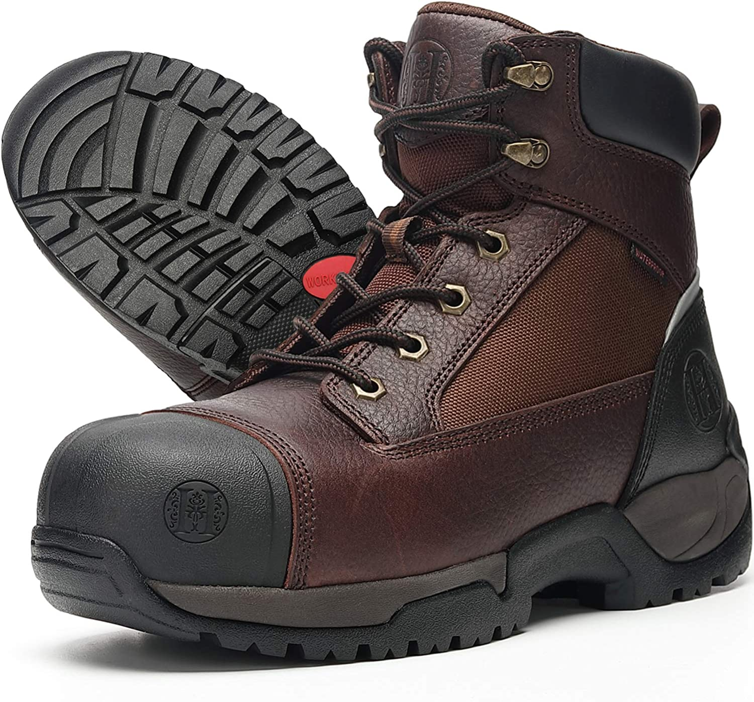 WAMSOFT Work Boots for Men 6