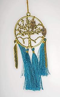 "Tree of Life Dream Catcher Catchers Boho Bag Charm Hanging Car Ornaments(Circle Diameter: 3""/7.5CM Handmade Accessory/ Pen..."