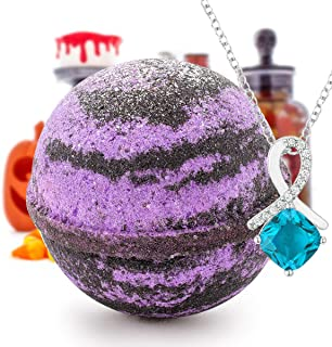 Halloween Trick or Treat! Bath Bomb and Jewelry Surprise Deluxe X Large 9 oz Bath Bombs Fizzies Made in USA, Cruelty Free!...