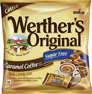 WERTHER'S ORIGINAL Sugar Free Caramel Coffee Hard Candies, 2.75 Ounce Bag (Pack of..