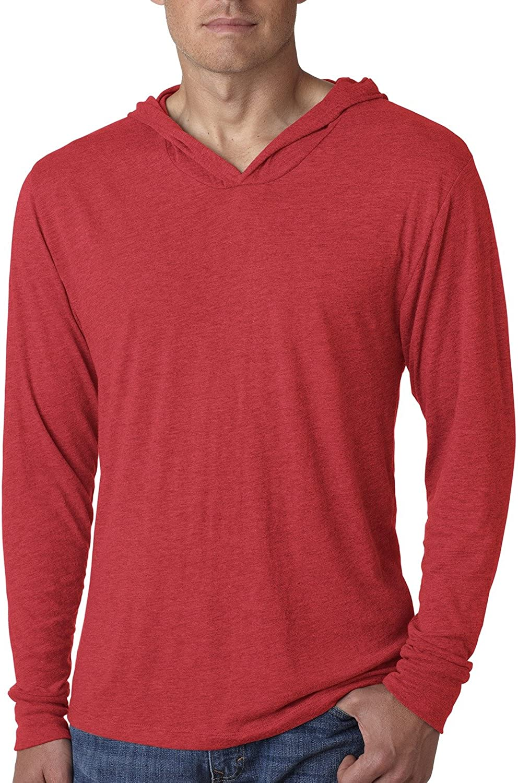 Next Level Unisex Triblend Long-Sleeve Hoody - VINTAGE RED - M - (Style # N6021 - Original Label)