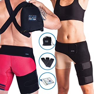 ZENKEYZ Groin Support and Hip Brace for Men & Women- Compression Wrap for Thigh Quad Hamstring Joints Sciatica Nerve Pain Relief Leg Strap
