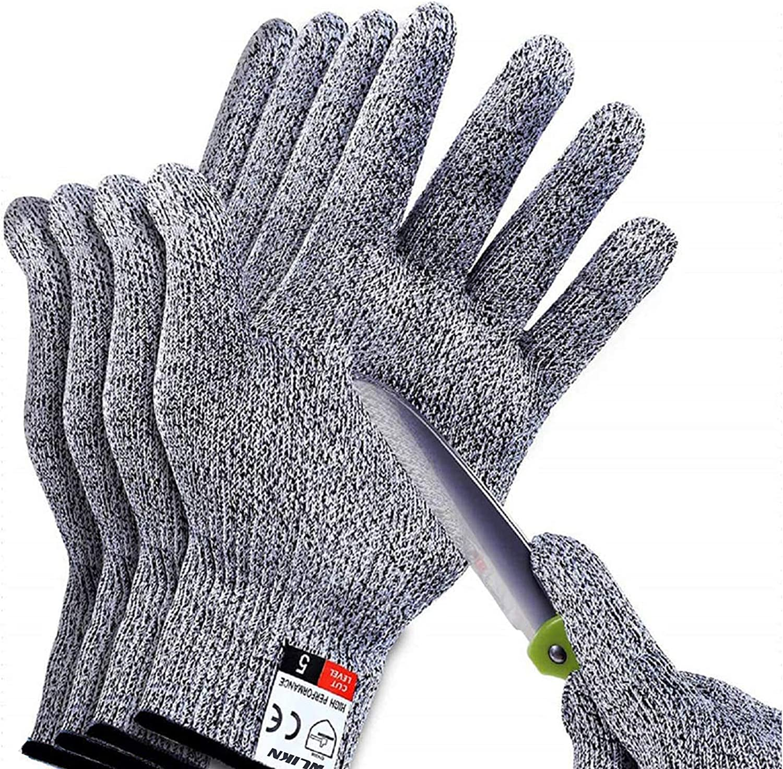 Wlikn Cut Resistant Gloves, 2 Pairs Skinning Gloves, Safety Kitchen Gloves