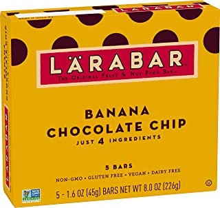 Larabar Fruit and Nut Bar, Banana Chocolate Chip 5 ct