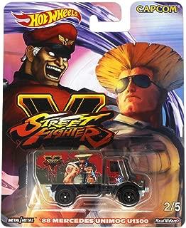 Hot Wheels Street Fighter V 2/5 M. Bison vs Guile 88 Mercedes Unimog U1300 Die-cast Vehicle